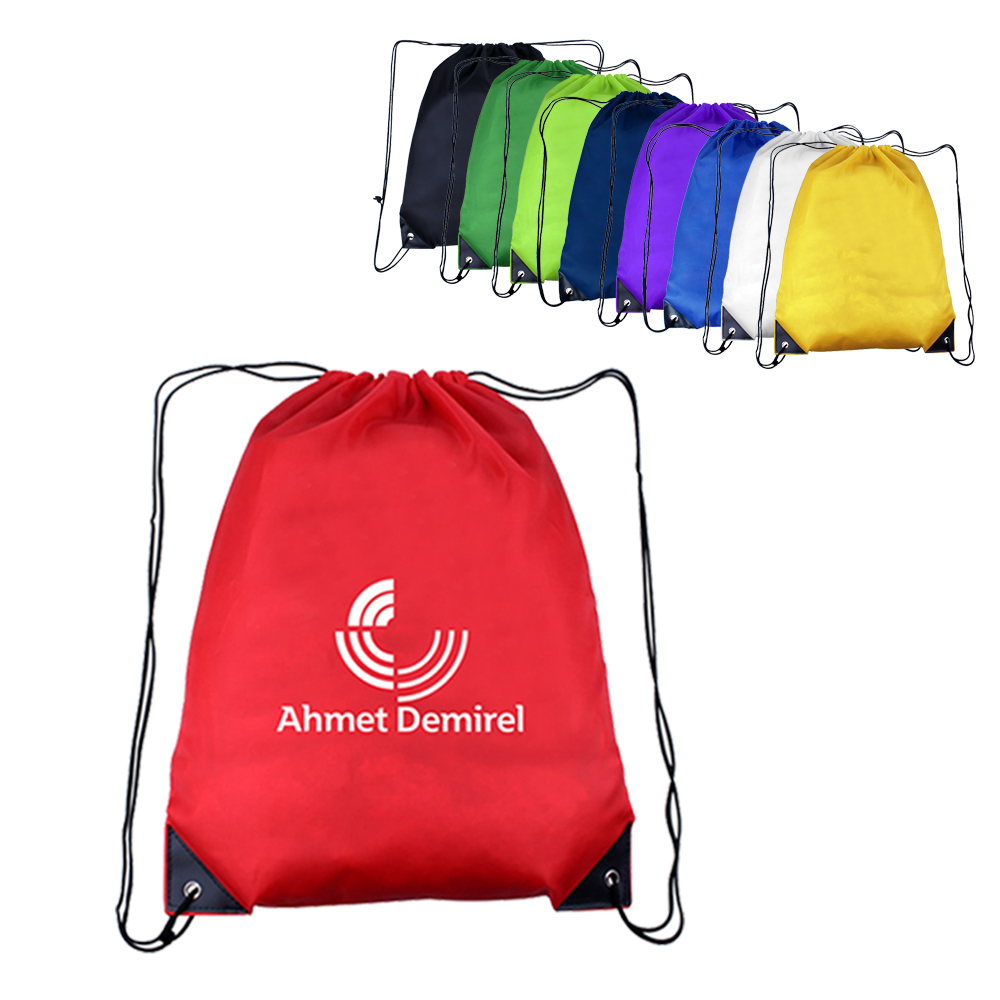 "14"" W X 18"" H Polyester Drawstring Backpacks"