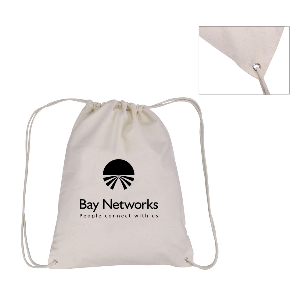 Cotton Canvas Drawstring Backpacks