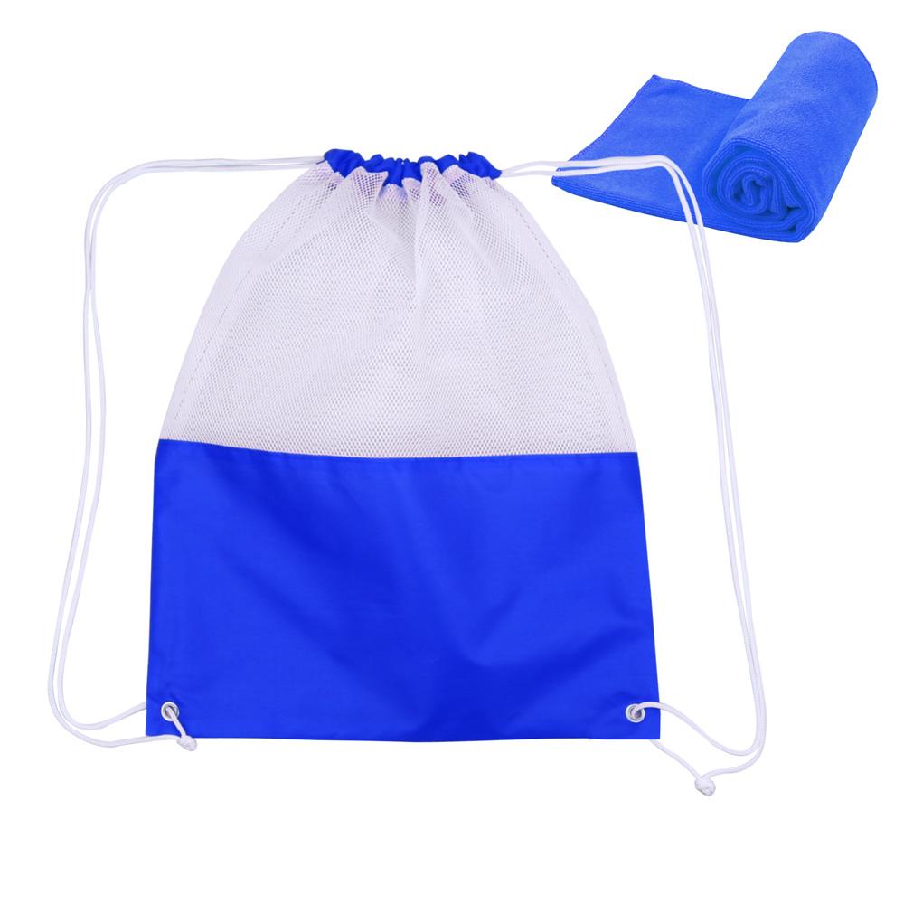 Microfiber Towel Kit: Mesh Microfiber Towel Bag Kit
