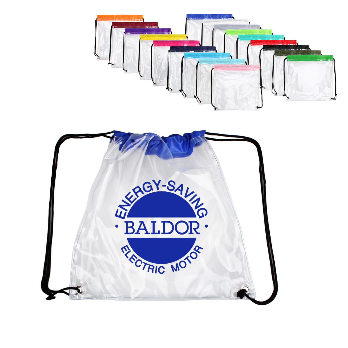 Clear PVC Drawstring Backpack