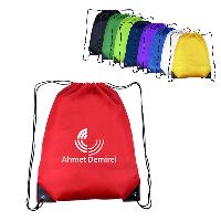 "14"" W X 18"" H Polyester Drawstring Backpacks - 14"" W X 18"" H Polyester Drawstring  Backpacks"