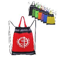 Non Woven Drawstring Bag with Reflective Tape - Non Woven Drawstring Bag with Reflective Tape