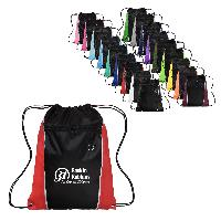 13W x 17H Side Color Drawstring Backpacks - 13W x 17H Side Color Drawstring Backpacks