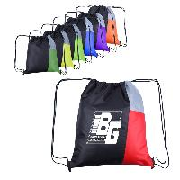 "13""W x 15""H Side Color Drawstring Backpacks - 13""W x 15""H Side Color Drawstring Backpacks"