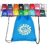 "14""wX 16""h Non-Woven Drawstring Backpacks - 14""wX 16""h Non-Woven Drawstring Backpacks"
