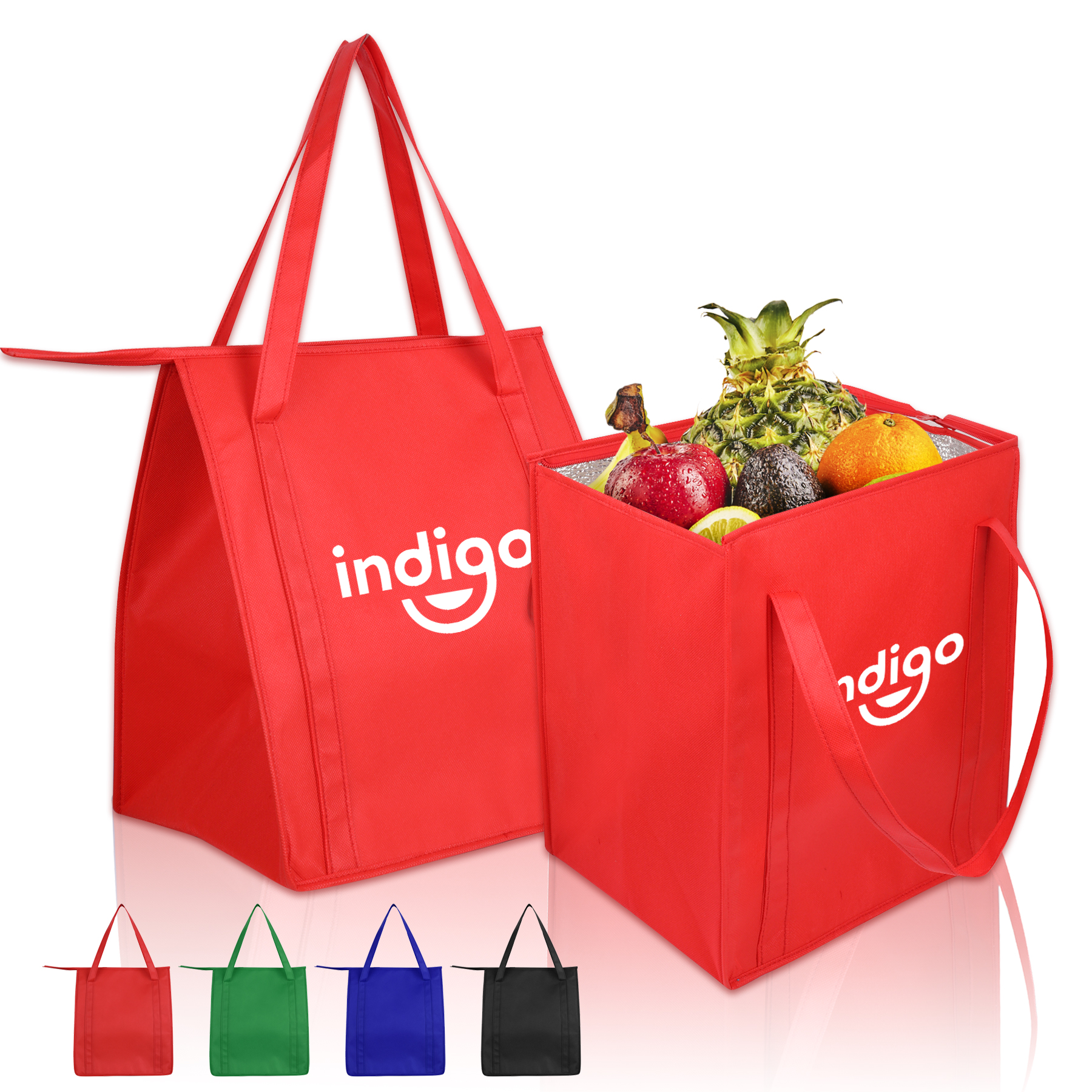 Insulated Large Non-Woven Cooler Grocery Bag