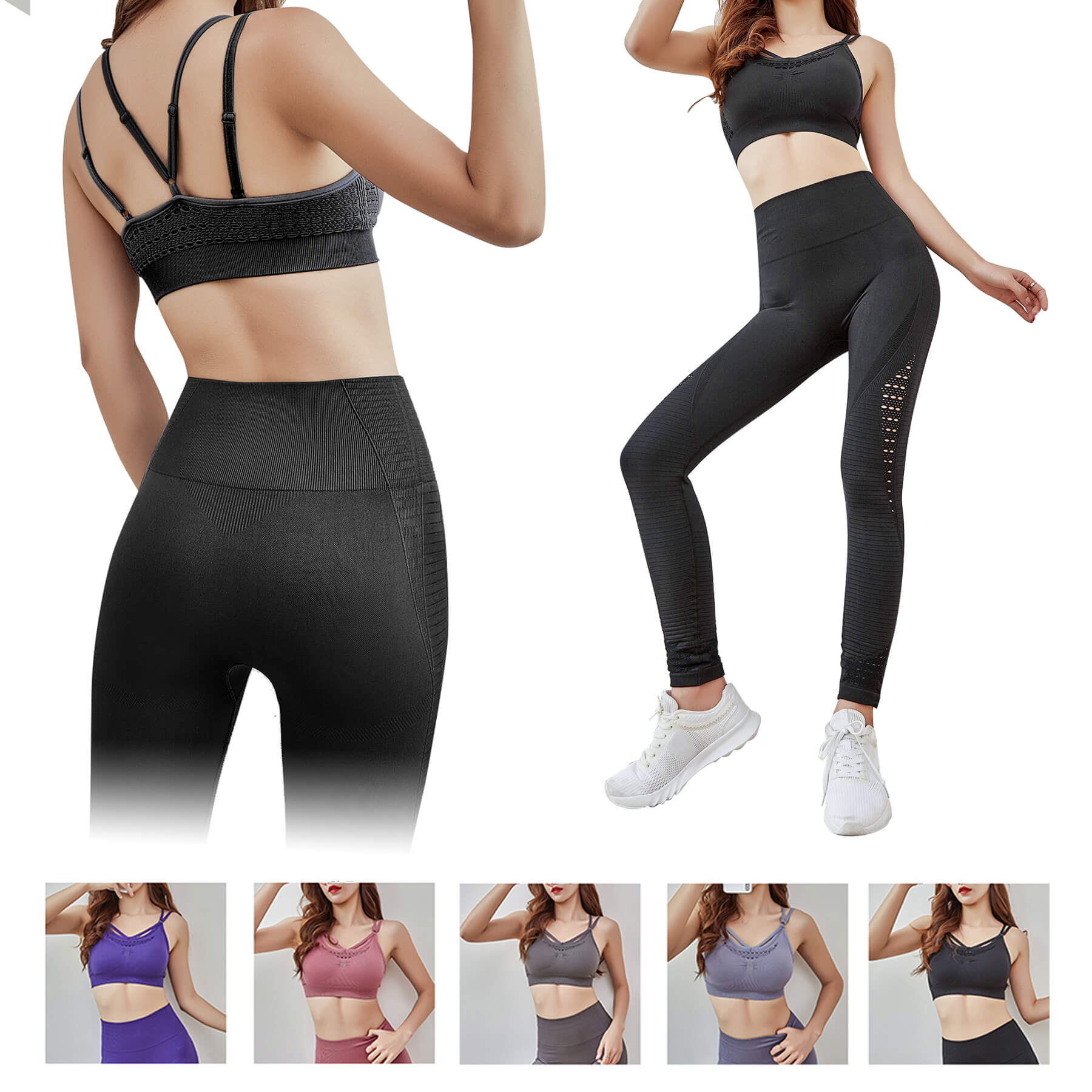 Women's Fitness Yoga Suit With Bra and Pants - Women's Fitness Yoga Suit With Bra and Pants