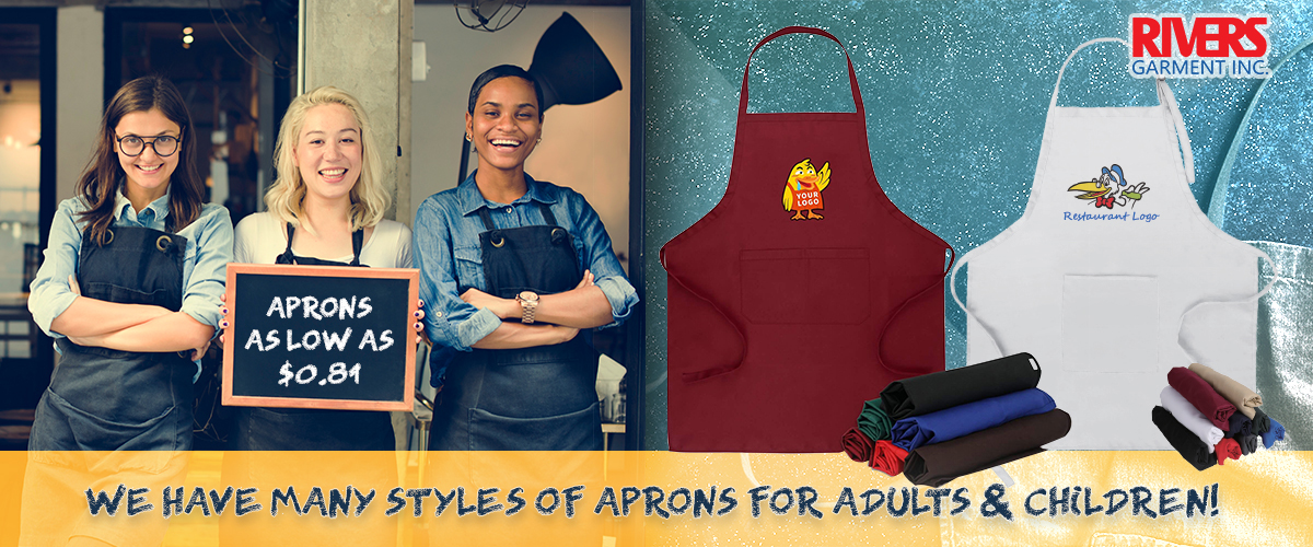 Rivers Garment Supplies Aprons At Wholesale Prices